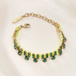 Stella & Dot - Green Neon Dream Bracelet
